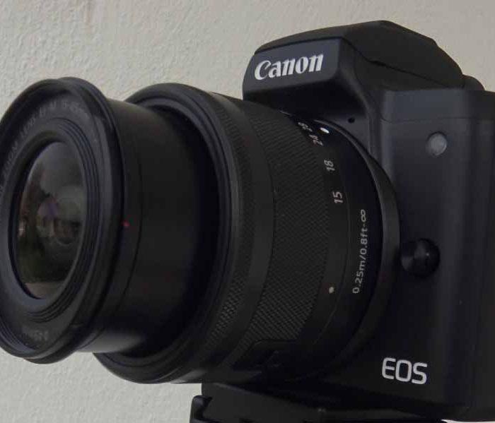 Canon EOS M50 mit verschiedenen Objektiven